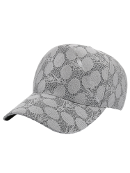Lace Dotted Summer Baseball Cap - GRAY