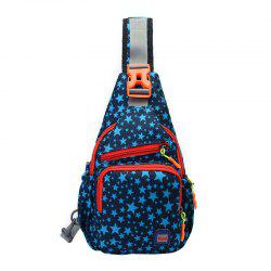 Multipocket Outdoor Chest Bag - Bleu Foncé