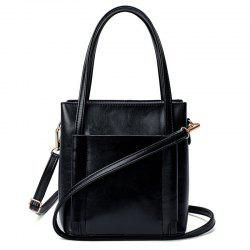 Casual Faux Leather Shoulder Bag