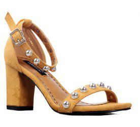 Block Heel Studded Sandals