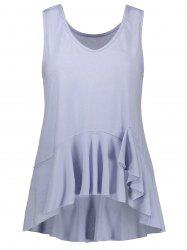 Loose Fit Ruffle Tank Top