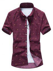 Allover Dot Print Casual Shirt