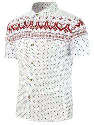 Short Sleeves Ethnic Pattern Shirt