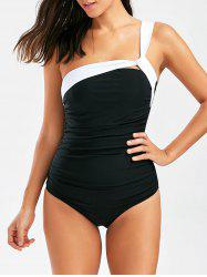One Shoulder Ruched Padded Swimsuit