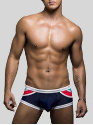 U Pouch Color Block Swimming Briefs