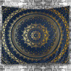 Wall Hanging Art Decoration Mandala Print Tapestry - PURPLISH BLUE