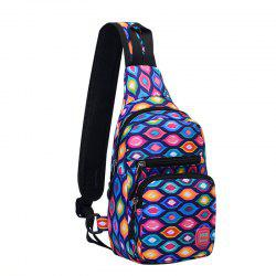 Outdoor Waterproof Graphic Print Chest Bag