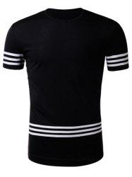 Short Sleeve Varsity Stripe Braid T-Shirt