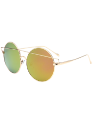 Metal Round Mirror Reflective Retro Sunglasses