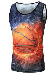Basketball Printed Mesh Tank Top