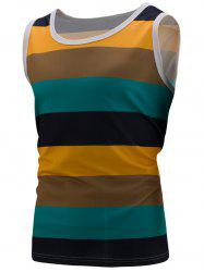 Stripe Colorblock Sports Tank Top