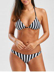 Halter String Bikini In Stripe