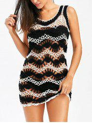 Crochet Sleeveless Cover-Up Dress