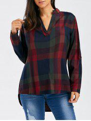 Oversized Fire Plaid Top