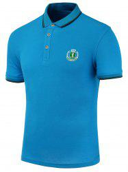 Embroidered Embellish Short Sleeves Polo Shirt