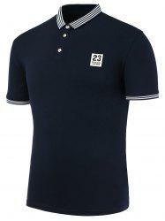 Patch Design Short Sleeves Polo Shirt