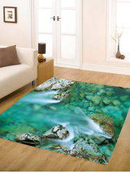 Mountain Stream Water Flannel Antiskid Rug
