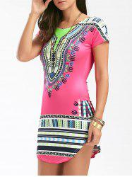 African Print Short Bodycon Dress