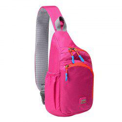 Outdoor Waterproof Multipocket Chest Bag - ROSE RED