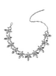 Rhinestone Artificial Crystal Flower Necklace