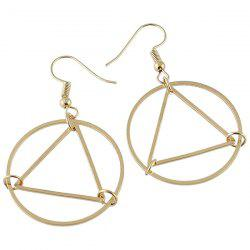 Geometric Round Drop Hoop Earrings