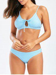 Striped Bikini with Padded Cups