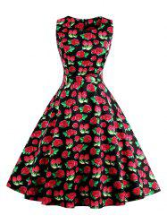 Vintage Floral Fit and Flare Dress
