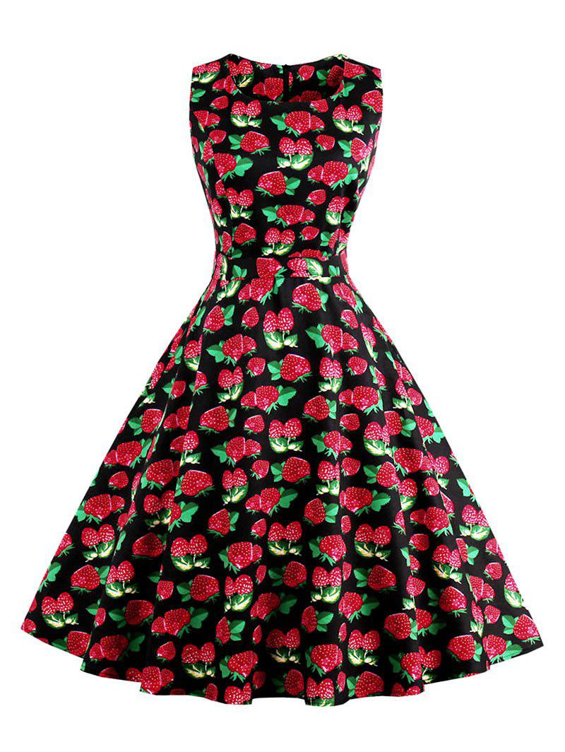 Unique Vintage Floral Fit and Flare Skater Dress