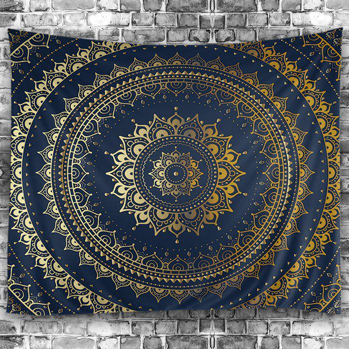Wall Hanging Art Decoration Mandala Print TapestryHOME<br><br>Size: W91 INCH * L71 INCH; Color: PURPLISH BLUE; Style: Mandala; Material: Polyester; Feature: Washable; Shape/Pattern: Print; Weight: 0.4500kg; Package Contents: 1 x Tapestry;