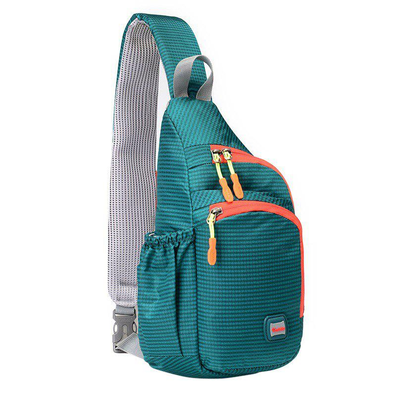 Outdoor Waterproof Multipocket Chest BagHOME<br><br>Color: MARINE GREEN; Type: Chest Bag; For: Camping,Casual,Climbing,Cycling,Sports,Traveling; Material: Nylon; Features: Waterproof; Closure Type: Zipper; Size(L*W*H)(CM): 18*9*36CM; Weight: 1.2000kg; Package Contents: 1 x Chest Bag;