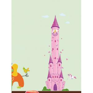 Cartoon Castle Princess Pegasus Wall Decals