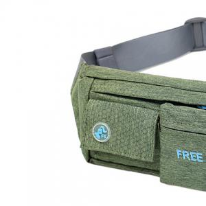 Freeknight Nylon Headphone Jack Waterproof Waist Bag - BLACKISH GREEN