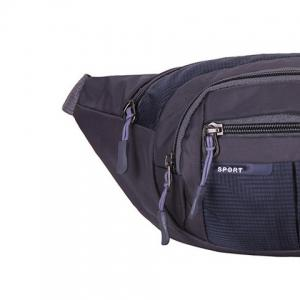 Outdoor Plaid Waterproof Nylon Waist Bag - DEEP BLUE