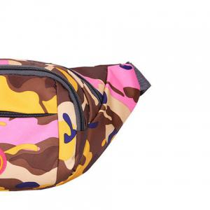 Outdoor Waterproof Camouflage Waist Bag - PINK