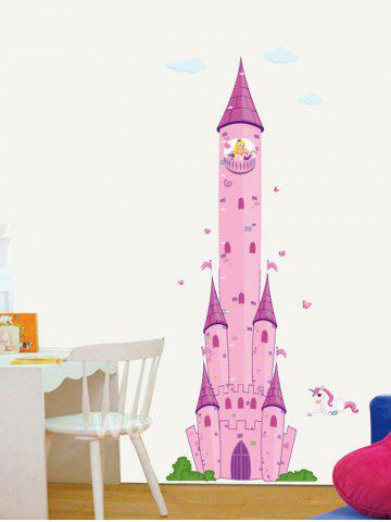 Shops Cartoon Castle Princess Pegasus Wall Decals - PINK  Mobile