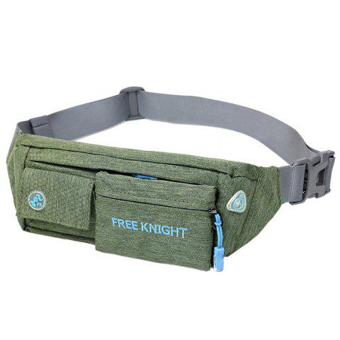 Sale Freeknight Nylon Headphone Jack Waterproof Waist Bag BLACKISH GREEN