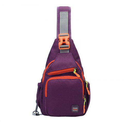 Shops Outdoor Multipurpose Waterproof Chest Bag - PURPLE  Mobile