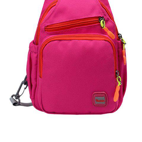Affordable Outdoor Multipurpose Waterproof Chest Bag - ROSE RED  Mobile