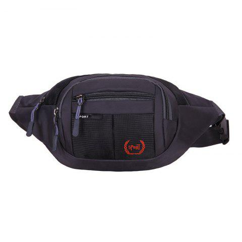 Fashion Outdoor Plaid Waterproof Nylon Waist Bag