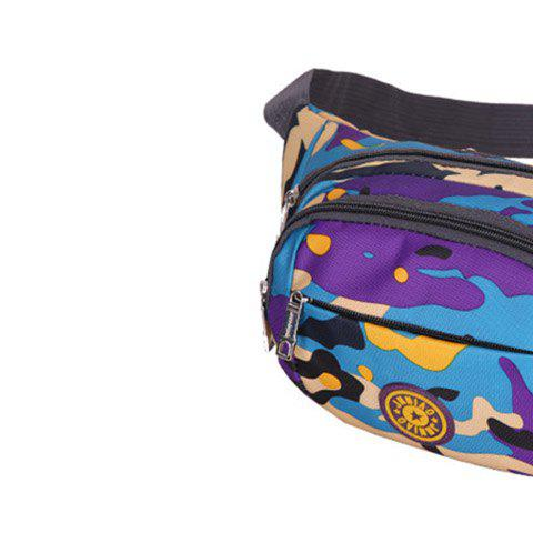 Trendy Outdoor Waterproof Camouflage Waist Bag - PURPLE  Mobile