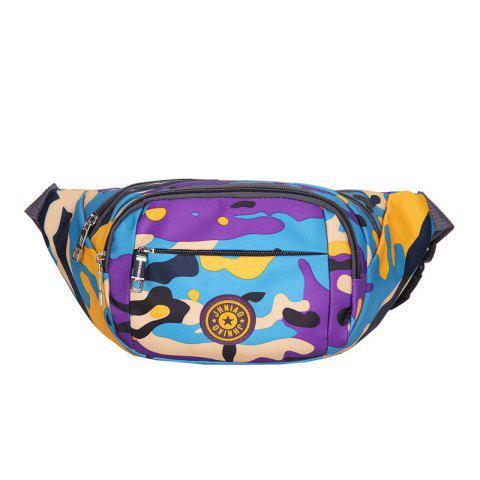 Outfits Outdoor Waterproof Camouflage Waist Bag - PURPLE  Mobile
