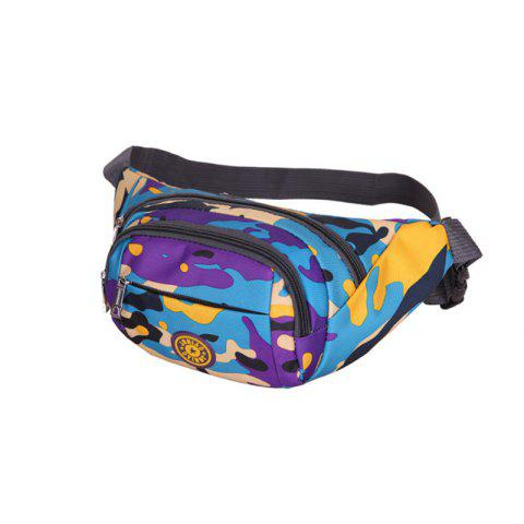 Fancy Outdoor Waterproof Camouflage Waist Bag - PURPLE  Mobile