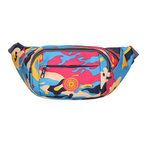 Trendy Outdoor Waterproof Camouflage Waist Bag - RED  Mobile