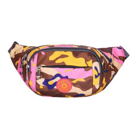 Buy Outdoor Waterproof Camouflage Waist Bag PINK