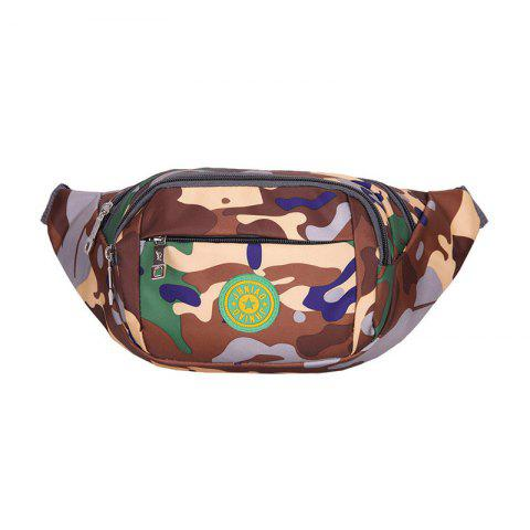 Outdoor Waterproof Camouflage Waist Bag - Brown - 40
