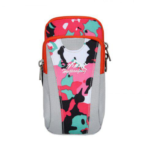 Chic Outdoor Camouflage Lightweight Arm Bag - WHITE + PINK + BLUE  Mobile