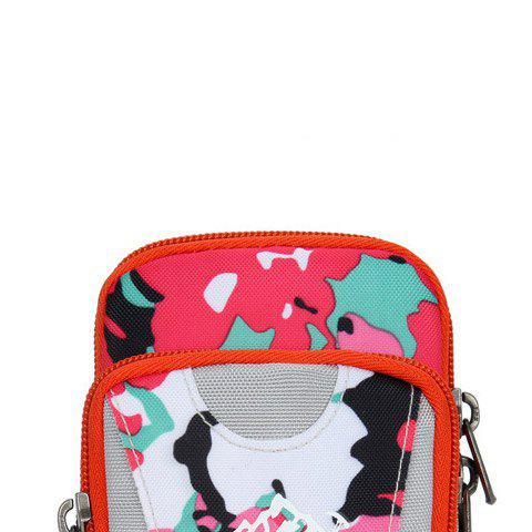 Latest Outdoor Camouflage Lightweight Arm Bag - WHITE + PINK + BLUE  Mobile