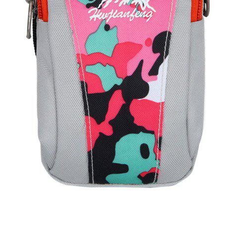 Outfits Outdoor Camouflage Lightweight Arm Bag - WHITE + PINK + BLUE  Mobile