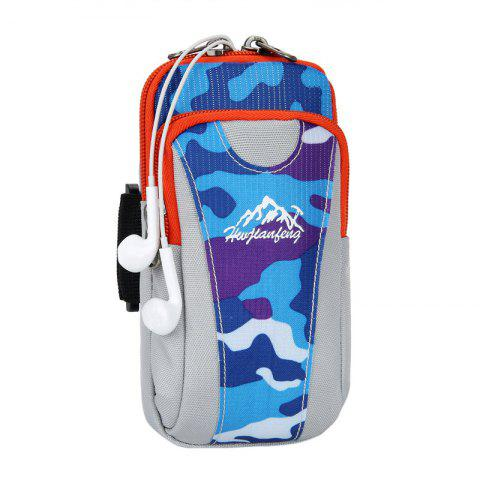 Store Outdoor Camouflage Lightweight Arm Bag - LAKE BLUE  Mobile