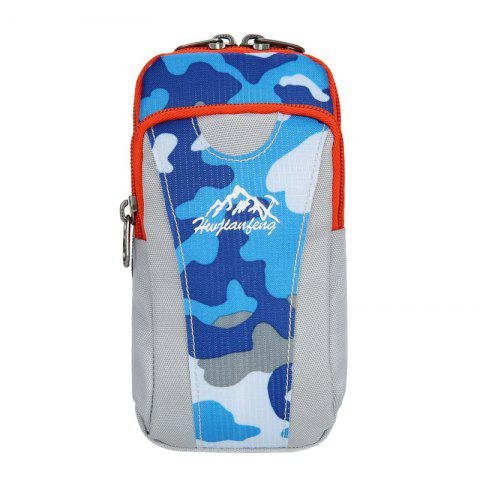 Outdoor Camouflage Lightweight Arm Bag - Blue Camouflage - 40